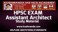 HPSC ASSISTANT ARCHITECT NOTES