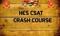 HCS CSAT CRASH COURSE