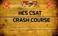 HCS CSAT CRASH COURSE