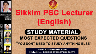 SIKKIM-PSC-LECTURER-ENGLISH